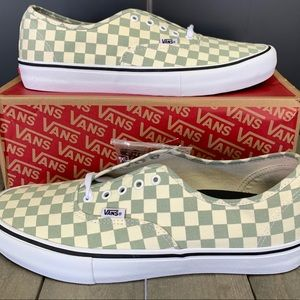 Vans Authentic Pro Checkerboard Desert Sag Sz 13